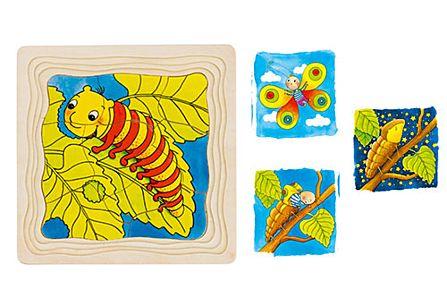 Houten Puzzel De Vlinder Puzzels Spelen Speelgoed Maréchal