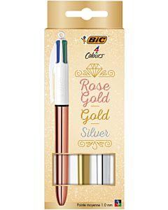 VIERKLEURENBALPEN - BIC - SHINE - ROSE GOLD, GOLD, SILVER