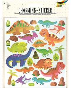 CHARMING STICKERS - KIDS III - Dino's en de ruimte