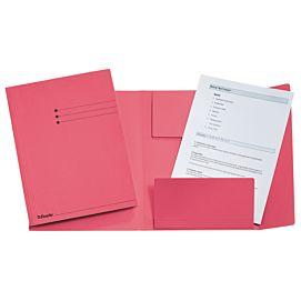 MAP KARTON MET drie kleppen roze per STUK