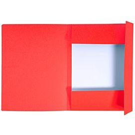 MAP KARTON MET drie kleppen rood  per STUK