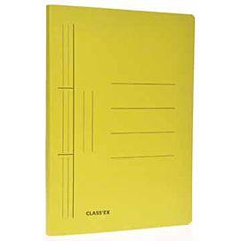 MAP KARTON MET glijder geel (classex)
