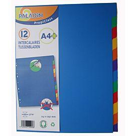 TABBLADEN A4 Maxi - PLASTIC  EXTRA BREED 12 TABS