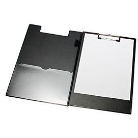 KLEMPLAAT MET OMSLAG  PVC GELAST zwart