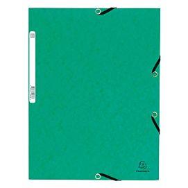 MAP KARTON MET 3 KLEP EN ELASTIEK groen