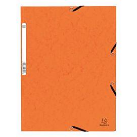 MAP KARTON MET 3 KLEP EN ELASTIEK oranje
