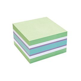 POST-IT NOTES - INFO STICKY - 75 X 75 MM - GROEN-BLAUW -WIT-VIOLET