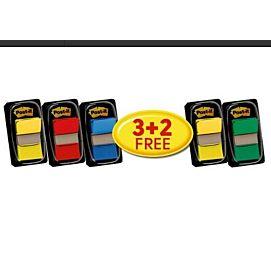 POST-IT INDEX - VALUE PACK - 3+2 GRATIS