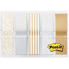 POST-IT INDEX - METALLIC COLLECTION - 5 X 20 STUKS