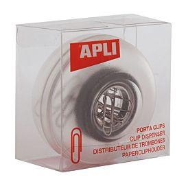 PAPIERKLEMPOT - APLI -  ROND - TRANSPARANT
