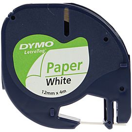 DYMO-TAPES 12MM X 4M PAPIER WIT