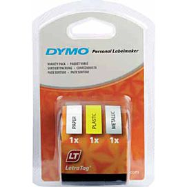 DYMO-TAPES 12MM X 4M  STARTKIT 3-PACK