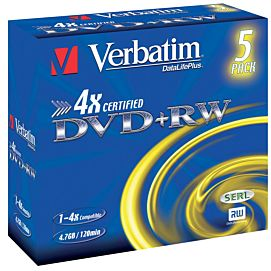 DVD plus REWRITABLE (DVD+RW) 4X / 4.7 GB/120 MIN