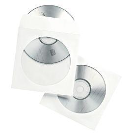 CD-ENVELOPPEN WIT  PER 100