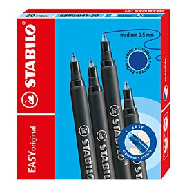 STABILO EASY ORIGINAL REFILLS  BLAUW medium