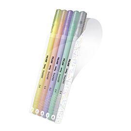 SCHRIJFSTIFTEN pastel  ETUI/5 KL. milan