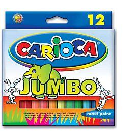 KLEURSTIFT 'CARIOCA' JUMBO '12'  SUPERWASHABLE