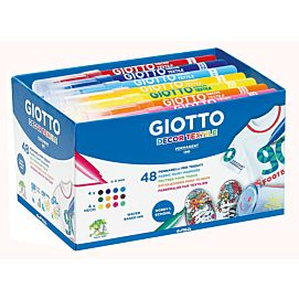 KLEURSTIFTEN GIOTTO DECOR textile schoolpack /48