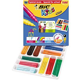 KLEURSTIFT - BIC KIDS VISA - BOX/144 ST.