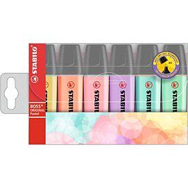 FLUO-STIFT stabilo BOSS pastel  6 KLEUREN