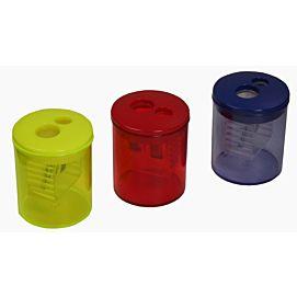 POTLOODSLIJPER - IN PLASTIEK - 2-GAATS - MET TRANSPARANT BAKJE