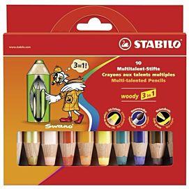 STABILO WOODY DOOS/10 KL + SLIJPER
