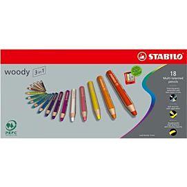 WASCO 3 IN 1 - STABILO WOODY - DOOS/18 + SLIJPER