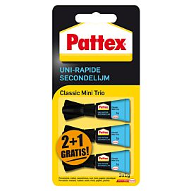 PATTEX SECONDENLIJM classic mini trio 3 X 1 GR