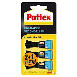 SECONDENLIJM - PATTEX - CLASSIC MINI TRIO 3 X 1 GR