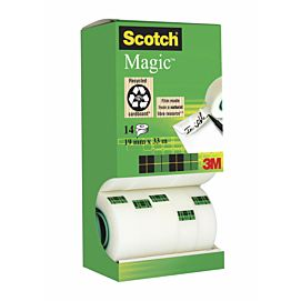KLEEFBAND SCOTCH MAGIC TAPE  'invisible'   DOOS/14 ROLLEN