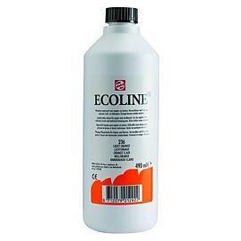 ECOLINE 490 ML kleine fles LICHTORANJE