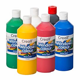 CREALL-GLASS WINDOW COLOR 6 KLEUREN X 500 ML