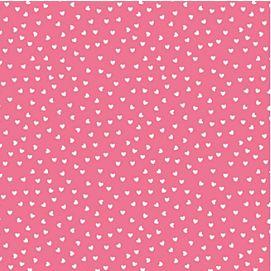CADEAUPAPIER 'roze met witte hartjes' - 70 cm