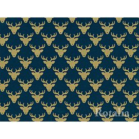 CADEAUPAPIER - CHRISTMAS - BLUE GOLDEN REINDEER