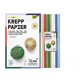CREPEPAPIER - 200 X 50 CM - KL.ASS. - X-mas-kleuren