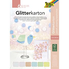 GLITTERKARTON Pastel