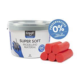 BOETSEERKLEI - CREALL-super soft - 1750 GR - ROOD