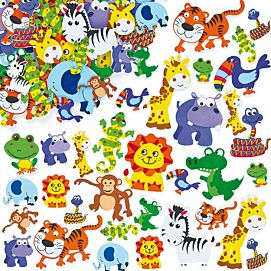 FOAM STICKERS 'JUNGLE DIEREN'