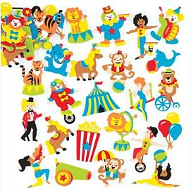 FOAM STICKERS ' CIRCUS '
