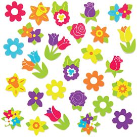 FOAM STICKERS ' lentebloemen '