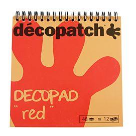 DECOPATCH ' DECOPAD ROOD '  15 X 15 CM
