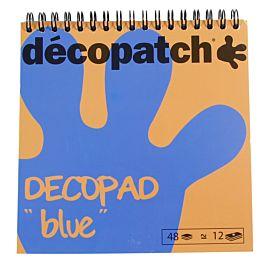 DECOPATCH ' DECOPAD BLAUW '  15 X 15 CM