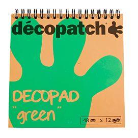 DECOPATCH ' DECOPAD GROEN '  15 X 15 CM