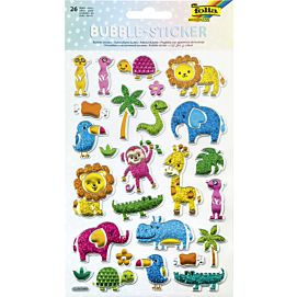 FANTASIE BUBBLE - STICKERS JUNGLE ANIMALS