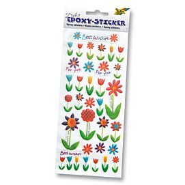 EPOXY 3D-STICKER  'BLOEMEN'