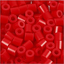 STRIJKPARELS MEDIUM ( 5 X 5 MM ) ROOD