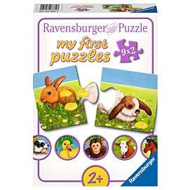 PUZZEL - MY FIRST PUZZLES - Lieve dieren - 9 x 2 stukjes