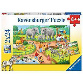 PUZZEL - Een dag in de dierentuin - 2 x 24 stukjes