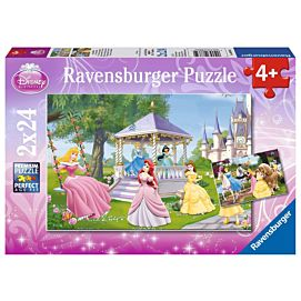 PUZZEL - Betoverende prinsessen - 2 x 24 stukjes