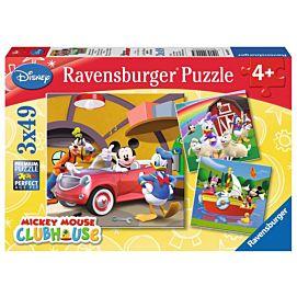 PUZZEL - Iedereen houdt van Mickey - 3 x 49 stukjes
